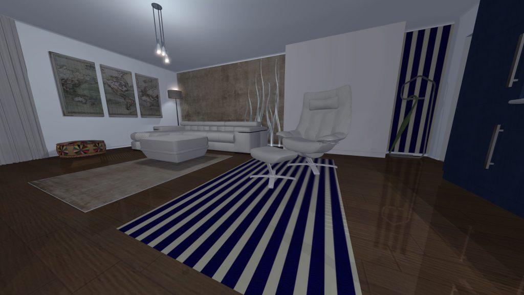 Izgled stana u večernjim časovima 3d-vizuelizacija