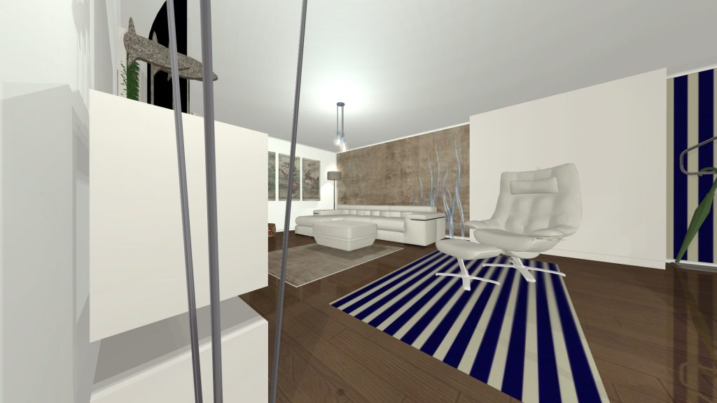 Izgled stana u dnevnim časovima 3d-vizuelizacija