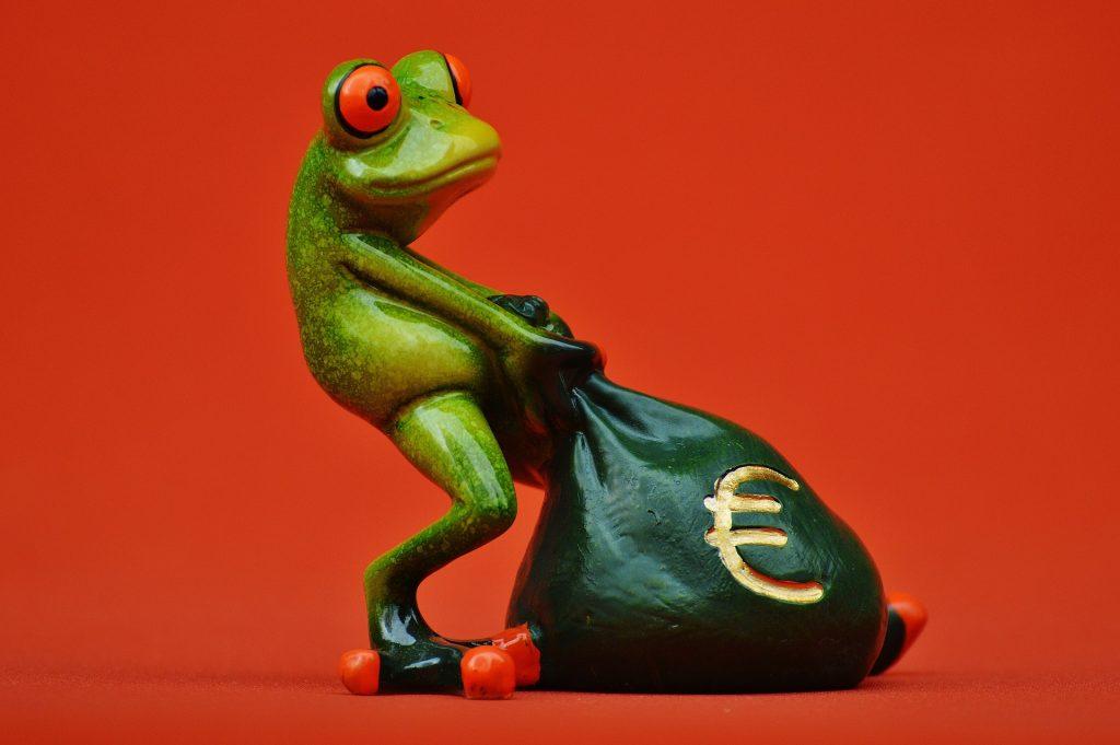 žaba feng shui simbol