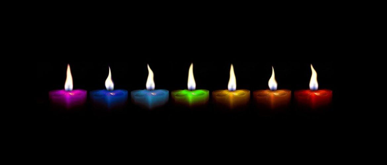 svece u bojama Feng shui