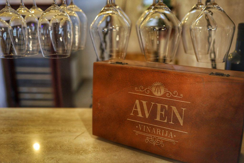 Vinarija Aven enterijer velike degustacione sale