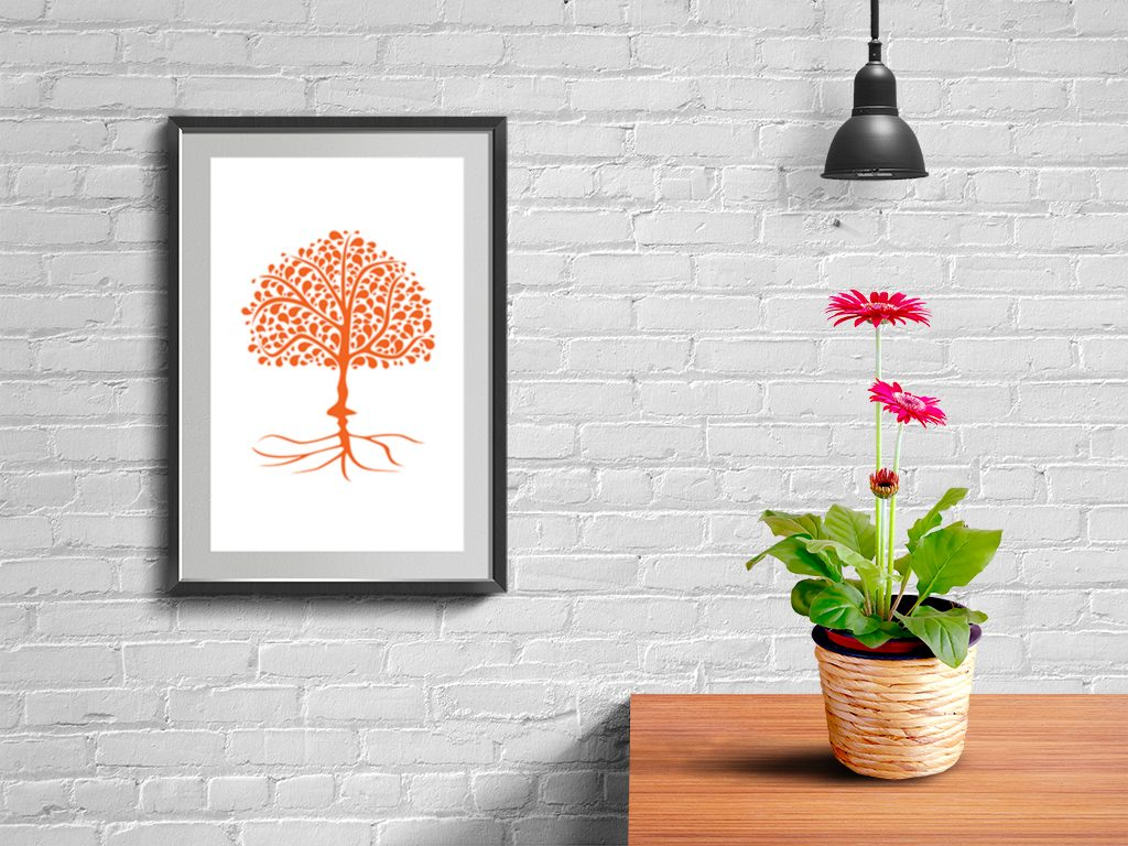DigitalArt Tree of Life orange Svadhishthana 01